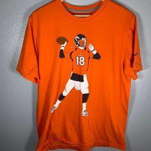 Nike Denver Broncos Peyton Manning Orange Tee